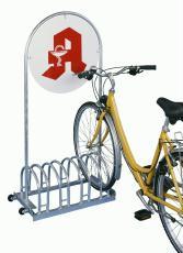 Fahrradständer RW 5454 mit Werbefläche