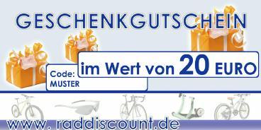 Raddiscount Geschenk-Gutschein