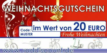 Raddiscount Weihnachts-Gutschein