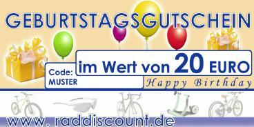 Raddiscount Geburtstags-Gutschein