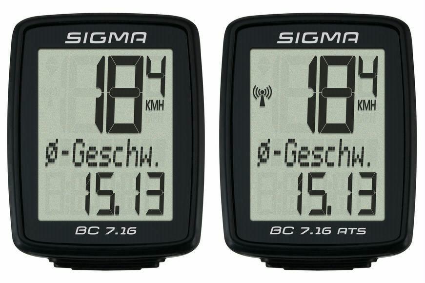 Fahrradcomputer Großes Display : Fahrradcomputer sigma bc 7.16 bc 7.16 ats raddiscount online shop