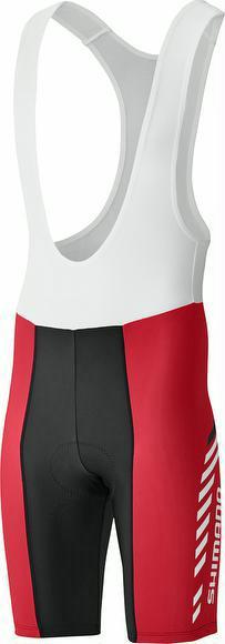 Trägerhose Shimano Print Bib Shorts kurz rot jetztbilligerkaufen