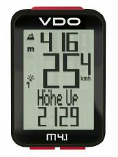 Fahrradcomputer VDO M4.1 WR mit Höhenmesser kabelgebunden