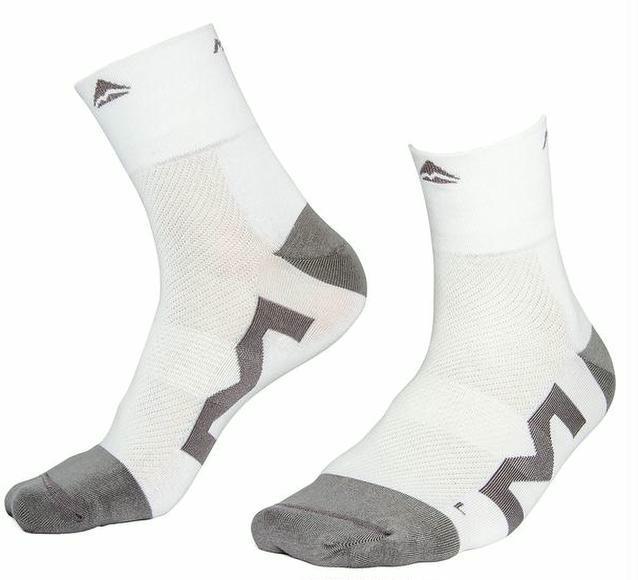 Socken Merida Lang L/43-45 weiß/grau