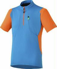 Bekleidung > trikots/Trikots: Shimano Trikot  Touring Jersey Blau XXL