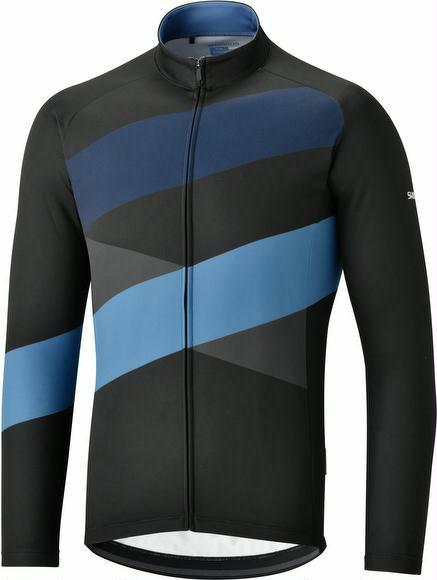 Trikot Shimano Thermal Team Jersey Schwarz/Blau XL