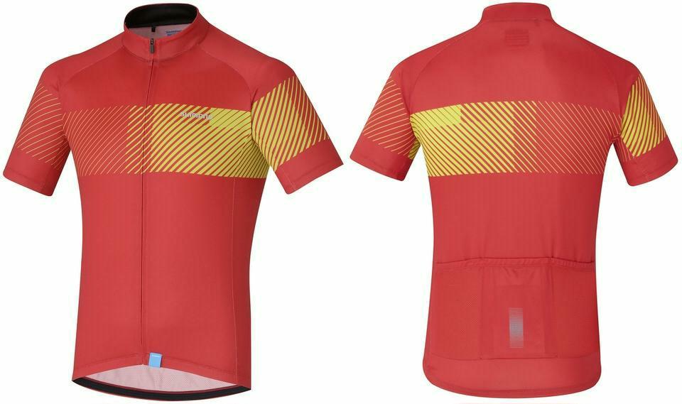 Trikot Shimano Climbers Jersey Herren M, rot/gelb