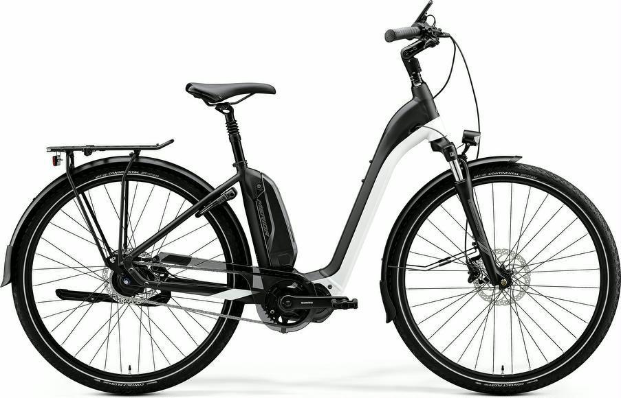 E-Bikes: MERIDA E-Bike Merida eSpresso City 700 EQ 2020 SchwarzWeiß XL frei Haus