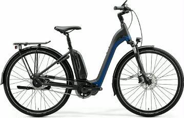 E-Bike Merida eSpresso City 700 EQ 2020 Schwarz/Blau XL frei Haus