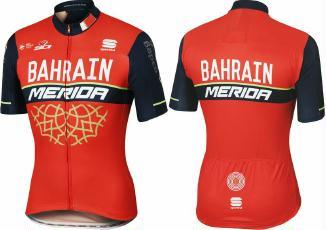 Bekleidung > trikots/Trikots: MERIDA Trikot Bodyfit Pro Race Team Bahrain-Merida kurzarm M