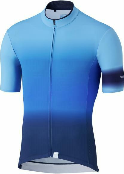 Trikot Shimano Mirror Cool Jersey Herren Blau XXL